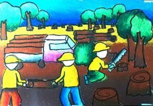 Vẽ tranh bảo vệ môi trường đơn giản và ý nghĩa