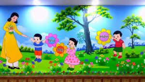 Những ưu điểm và tác dụng của vẽ tranh tường mầm non