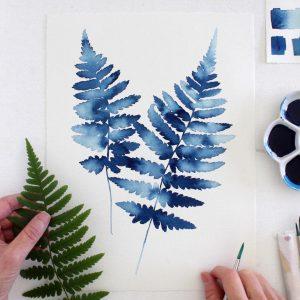 Cách vẽ tranh màu nước đơn giản và cách pha màu nước cơ bản