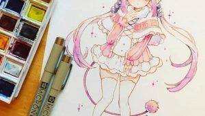 Những bước vẽ tranh Anime nữ đơn giản và đẹp nhất